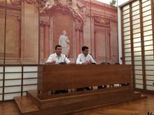 André Silva do PAN e Jorge Costa do Bloco de Esquerda na apresentação do projeto de lei