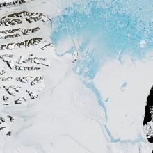 Placa de gelo Larsen C. NASA Earth Observatory/Jesse Allen / HANDOUT - EPA/Lusa.