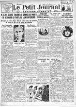 O Petit Journal de 20 de abril de 1922