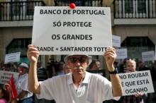 Manifestação de lesados do Banif, 16 de setembro de 2016 – Foto de José Sena Goulão/Lusa