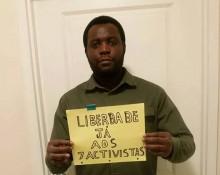 """""""Liberdade já aos 7 activistas"""" - Foto da página Central Angola 7311 no facebook"""