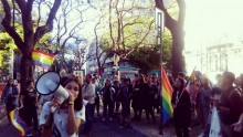 """Protesto """"EscolaSemHomofobia em Lisboa, do facebook de Bruno Góis."""