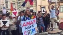 Manifestação contra a perseguição homofónica na Chechénia
