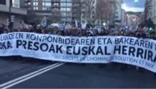 A política de vergonha do Governo de Rajoy foi contestada por milhares nas ruas de Bilbao. Imagem retirada do video do jornal eldiario.