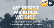 Apelo internacional à Marcha Mundial a 29 de abril de 2017, lançado por People's Climate March