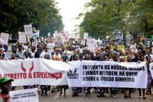 Marcha pelo Direito à Esperança contra a crise política e a situação económica, Maputo, 18 de junho de 2016 – Foto de António Silva/Lusa