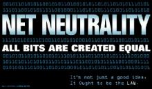 """Neutralidade da Internet - """"Todos os bits (a mais pequena unidade de informação) são criados iguais"""" - Logo em defesa da neutralidade da Internet"""