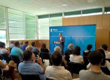 Pedro Filipe Soares no encerramento das jornadas parlamentares do Bloco de Esquerda, no Algarve.