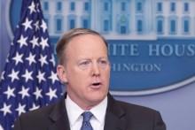 Sean Spicer, ex-porta-voz da Casa Branca, por Michael Reynolds, EPA/Lusa