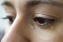 Mulher a chorar