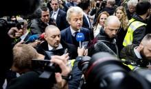 Geert Wilders em campanha eleitoral em Spijkenisse, Holanda, 18 de fevereiro de 2017 – Foto de Koen Van Weel/Epa/Lusa