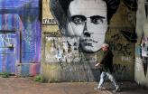 Pintura mural da cara de Gramsci. Foto de  Riccardo Cuppini/Flickr.