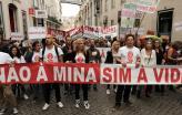 Manifestação contra a exploração de lítio. Setembro de 2019. Lisboa.