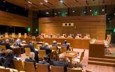 Imagem de arquivo de uma sessão do TJUE.