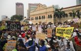 Manifestação pelo clima na Malásia. Setembro de 2019.