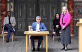 Sadiq Khan voltou a tomar posse como mayor de Londres.