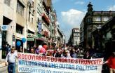 Trabalhadores do STRUN em manifestação no Porto.