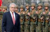 Sebastián Piñera tem tido sempre um forte apoio das forças armadas chilenas – foto de resumenlatinoamericano.org