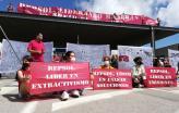 Protesto dos ambientalistas na Repsol em Madrid - Foto Climaximo