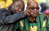 Cyril Ramaphos e Jacob Zuma
