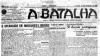 """A 23 de Fevereiro de 1919 surge o primeiro número do jornal A Batalha, """"porta-voz da organização operária"""" e, a partir de Setembro de 1919, data da fundação da CGT, órgão da central operária anarco-sindicalista"""