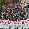 Manifestação contra a extrema-direita em Espanha.