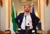 Matteo Salvini, ministro do Interior italiano e líder da Liga, um partido xenófobo de extrema-direita que formou governo em coligação com o Movimento 5 Estrelas. Foto de Luca Zennaro, Epa/Lusa.