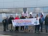 Fotografia: facebook do CESP. Ação de denúncia da loja Aldi da Maia, que tem, de acordo com o CESP, impedido o sindicato de realizar plenários e contactar com os trabalhadores. Janeiro de 2020.