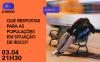 Sempre às terças e às sextas, pelas 21h30, em direto no ecrã do computador ou do telemóvel, um novo debate realizado no âmbito do ciclo AO ENCONTRO, sempre com intérprete de Língua Gestual Portuguesa.
