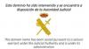 """O site """"antiga.assemblea.cat"""" deixou de estar acessível de forma intermitente esta segunda-feira à noite e, em vez disso, surgiunos monitores o emblema da Guarda Civil e a mensagem: """"Este domínio está à disposição da Autoridade Judicial""""."""