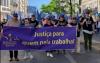 Trabalhadores judiciais numa ação de luta. Foto do Sindicato dos Funcionários Judiciais/Facebook.