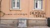 Pichagem xenófoba feita há semanas num ataque à sede do SOS Racismo, em Lisboa