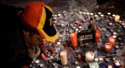 Homenagem às vítimas do atentado em Bruxelas, Bélgica, foto de Christophe Petit Tesson/Lusa