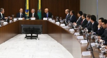 Primeira reunião do governo Temer depois da sua posse. Foto de Campanato - Agência Brasil