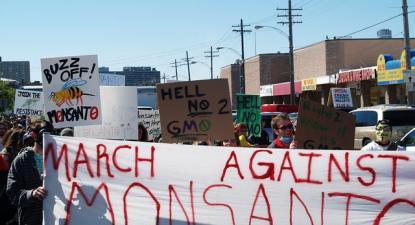 Manifestação contra a Monsanto. Washington. 2013.
