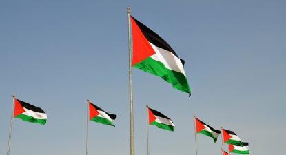 Bandeiras palestinianas. Foto de scottgunn/Flickr.