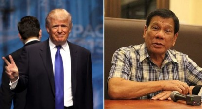 Donald Trump e Rodrigo Duterte.
