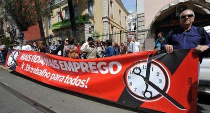 Horas extra não pagas criavam 64 mil postos de trabalho a 40 horas semanais, esse número subiria significativamente se o horário fosse de 35 horas