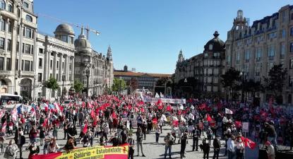 Manifestação da CGTP no Porto. Junho de 2021. Foto da CGTP.