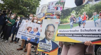Campanha no estado alemão da Saxónia-Anhalt