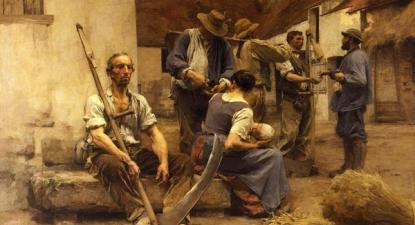 La paye des moissonneurs, Léon-Augustin Lhermitte, 1882.