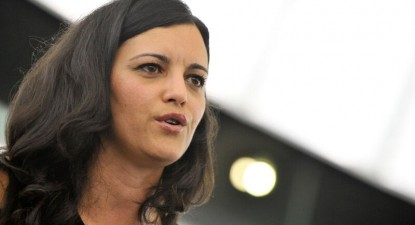 """Marisa Matias """"Espera que a Comissão do Orçamento do Parlamento Europeu seja suficientemente responsável, prestando solidariedade às famílias e comunidades afetadas"""". Foto Parlamento Europeu."""