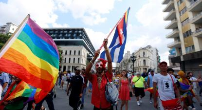 Marcha LGBTI em Havana, 12 de maio de 2019. Foto de Ernesto Mastrascusa/EPA/Lusa.