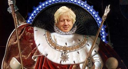 Boris Johnson as Emporer, 2008. Caricatura de Matt Brown/Flickr.