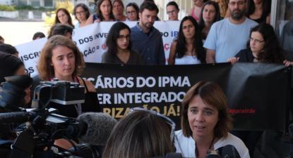 Catarina Martins no IPMA, 2 de setembro de 2019. Foto: Paula Nunes.