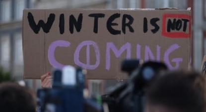 Cartaz na greve climática estudantil. Setembro de 2019.