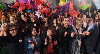 Comício do Bloco em Braga, 1 de outubro de 2019. Foto: Paula Nunes.