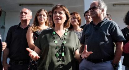 Visita do Bloco ao Hospital dos Covões, Coimbra, 2 de outubro de 2019. Foto: Paula Nunes.