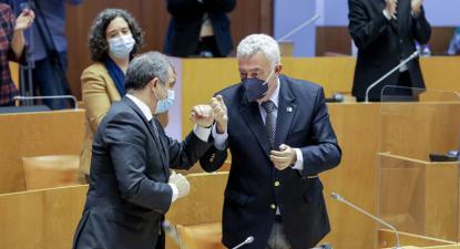 José Manuel Bolieiro (PSD) e Artur Lima (CDS)