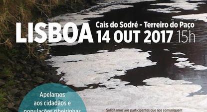 """""""A gravidade da poluição das águas do rio Tejo acentua-se devido aos caudais cada vez mais reduzidos que afluem de Espanha e, já em solo português, à gestão economicista do concessionário das barragens do Fratel e Belver"""", alega o ProTejo."""